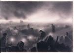 Zaduszki w Warszawie, 1954, papier, kredka, 43x62cm