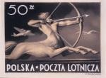 Stamp original artwork, Centaur, 1947, 20x27cm