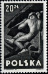 Stamp, Labour Day, 1947, Miner.