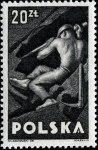 Stamp, Labour Day, 1947, Miner.