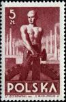 Stamp, Labour Day, 1947, Labourer.